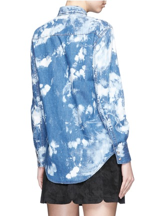 Back View - Click To Enlarge - SAINT LAURENT - Acid wash denim shirt