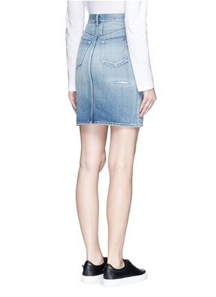 Back View - Click To Enlarge - SAINT LAURENT - Vintage wash denim skirt