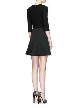 Back View - Click To Enlarge - ALEXANDER MCQUEEN - Hook-and-eye front cotton piqué dress