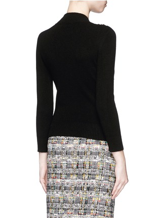 Back View - Click To Enlarge - Alexander McQueen - Glass crystal embellished cashmere sweater