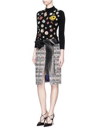 Figure View - Click To Enlarge - Alexander McQueen - Glass crystal embellished cashmere sweater