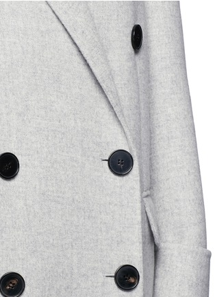 Detail View - Click To Enlarge - Alexander McQueen - Double breasted wool-cashmere coat