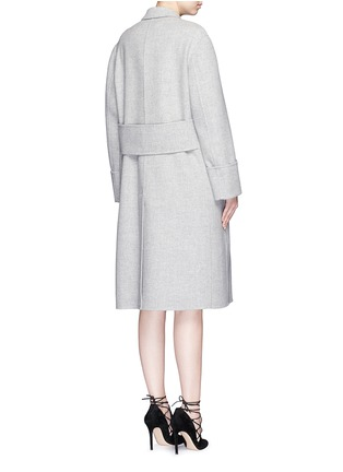 Back View - Click To Enlarge - Alexander McQueen - Double breasted wool-cashmere coat