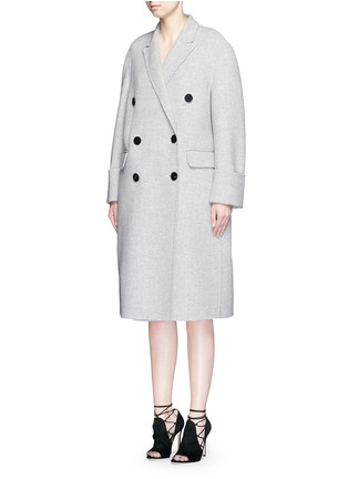 Front View - Click To Enlarge - Alexander McQueen - Double breasted wool-cashmere coat