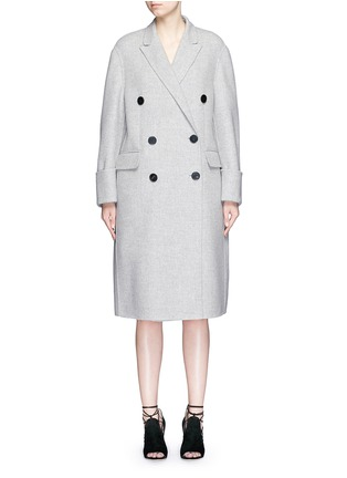 Main View - Click To Enlarge - Alexander McQueen - Double breasted wool-cashmere coat