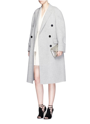 Figure View - Click To Enlarge - Alexander McQueen - Double breasted wool-cashmere coat