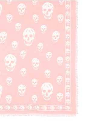 Detail View - Click To Enlarge - Alexander McQueen - Classic skull modal-silk scarf