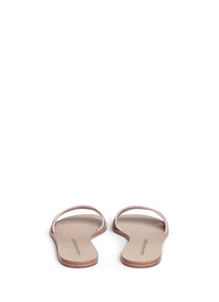 Back View - Click To Enlarge - Alexander McQueen - Poppy skull embroidery slide sandals
