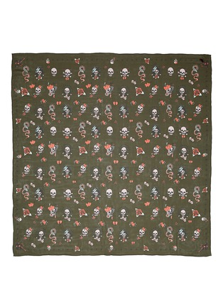 Main View - Click To Enlarge - Alexander McQueen - Skull tattoo silk chiffon scarf