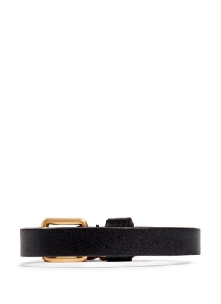 Figure View - Click To Enlarge - Alexander McQueen - Skull charm wrap leather bracelet