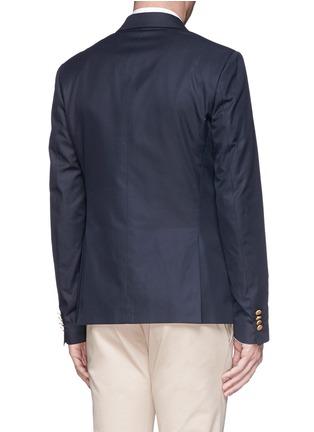 Back View - Click To Enlarge - Valentino - Cotton twill blazer