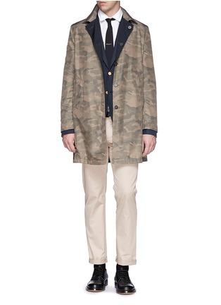 Figure View - Click To Enlarge - Valentino - Cotton twill blazer