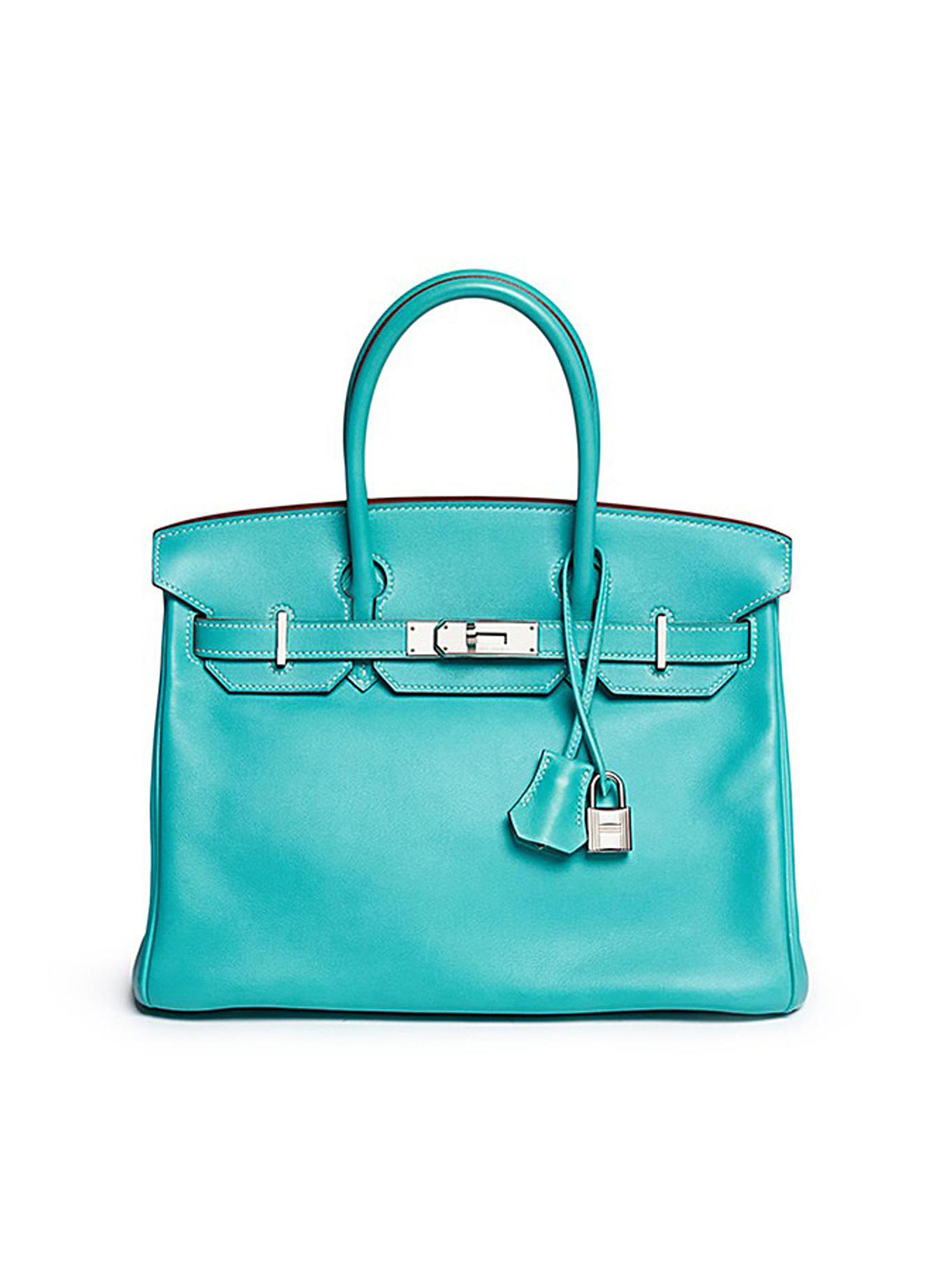 Birkin Lagoon 30cm Swift leather bag - VINTAGE HERMÈS - Modalova