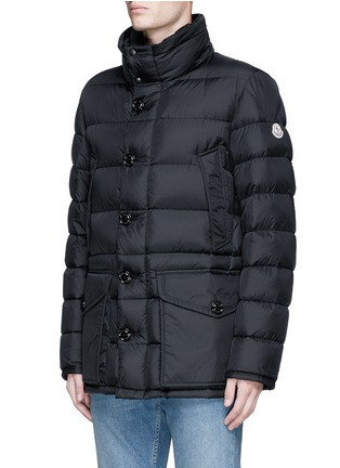 Detail View - Click To Enlarge - Moncler - 'Cluny' detachable coyote fur hood down jacket