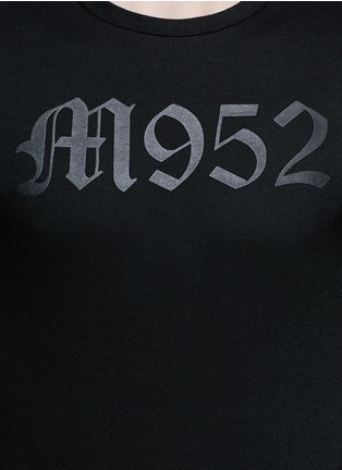 Detail View - Click To Enlarge - Moncler - 'Maglia' typography print cotton T-shirt