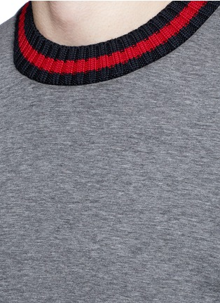 Detail View - Click To Enlarge - Moncler - Contrast trim cotton neoprene sweatshirt