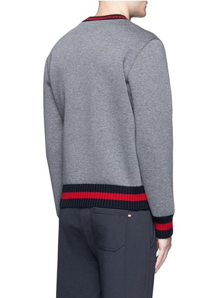Back View - Click To Enlarge - Moncler - Contrast trim cotton neoprene sweatshirt