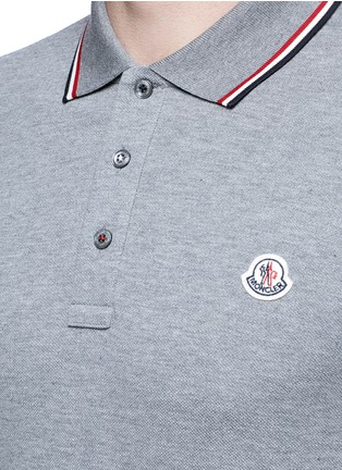 Detail View - Click To Enlarge - Moncler - Long sleeve cotton piqué polo shirt