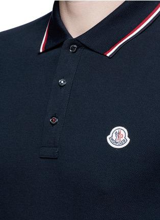 Detail View - Click To Enlarge - Moncler - Long sleeve cotton piqué polo shirt
