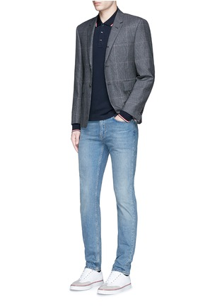 Figure View - Click To Enlarge - Moncler - Long sleeve cotton piqué polo shirt