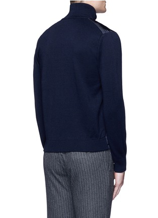 Back View - Click To Enlarge - MONCLER - 'Maglione Tricot' down front zip cardigan