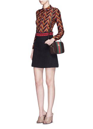 Figure View - Click To Enlarge - GUCCI - Chevron stripe silk-wool shirt