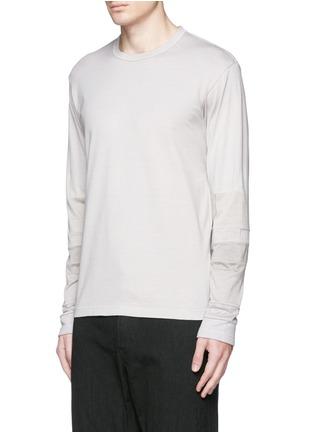 Front View - Click To Enlarge - COMME DES GARÇONS HOMME - Patchwork garment dyed cotton jersey T-shirt