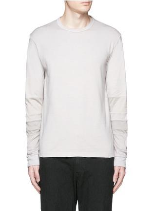 Main View - Click To Enlarge - COMME DES GARÇONS HOMME - Patchwork garment dyed cotton jersey T-shirt