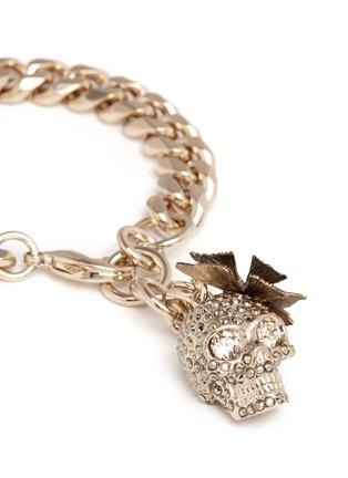 Detail View - Click To Enlarge - Alexander McQueen - Butterfly skull Swarovski crystal bracelet