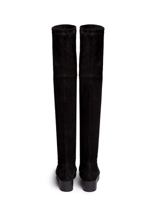 Back View - Click To Enlarge - Robert Clergerie - 'Natuj' stretch suede wedge thigh high boots