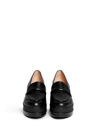 Figure View - Click To Enlarge - Robert Clergerie - 'Yokolej' leather wedge platform loafers
