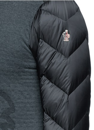 Detail View - Click To Enlarge - Moncler Grenoble - Quilted down sleeve logo sweatshirt
