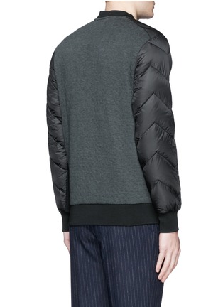 Back View - Click To Enlarge - Moncler Grenoble - Quilted down sleeve logo sweatshirt