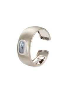 Buccellati Watches 'Cleopatra' diamond 18k white gold cuff watch