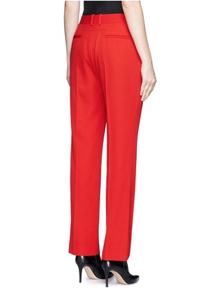 Back View - Click To Enlarge - GIVENCHY - Wool grain de poudre pants