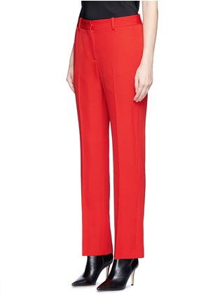 Front View - Click To Enlarge - GIVENCHY - Wool grain de poudre pants