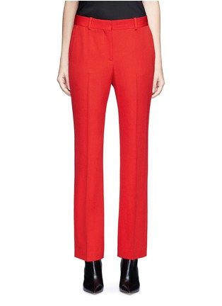 Main View - Click To Enlarge - GIVENCHY - Wool grain de poudre pants