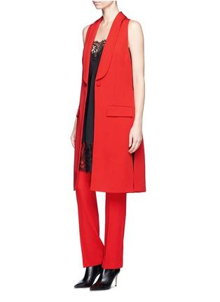 Figure View - Click To Enlarge - Givenchy - Wool grain de poudre pants