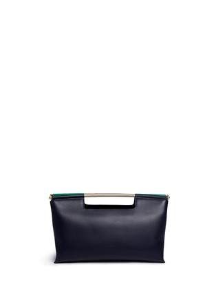 Main View - Click To Enlarge - DELPOZO - 'Gret' colourblock leather satchel clutch