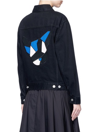 Back View - Click To Enlarge - Etre Cecile  - French bulldog appliqué denim jacket