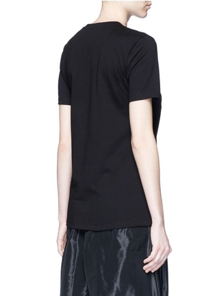 Back View - Click To Enlarge - Etre Cecile  - 'Dog Ring' embroidered cotton jersey T-shirt