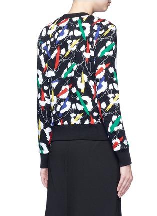 Back View - Click To Enlarge - Etre Cecile  - 'Leopard' brushstroke print cotton sweatshirt