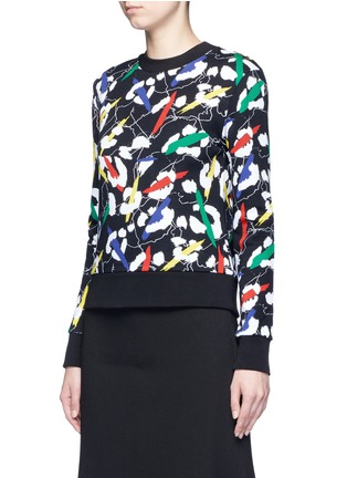 Front View - Click To Enlarge - Etre Cecile  - 'Leopard' brushstroke print cotton sweatshirt