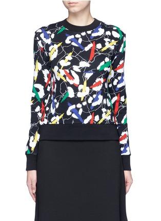 Main View - Click To Enlarge - Etre Cecile  - 'Leopard' brushstroke print cotton sweatshirt