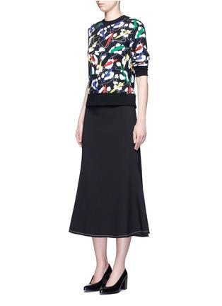 Figure View - Click To Enlarge - Etre Cecile  - 'Leopard' brushstroke print cotton sweatshirt