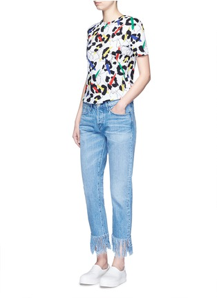 Figure View - Click To Enlarge - Etre Cecile  - 'Leopard' brushstroke print jersey T-shirt