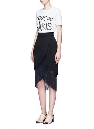 Figure View - Click To Enlarge - Etre Cecile  - 'Coucou Paris' slogan print jersey T-shirt