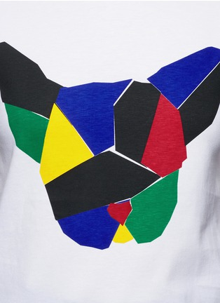 Detail View - Click To Enlarge - Etre Cecile  - 'Olympic Dog' collage print T-shirt