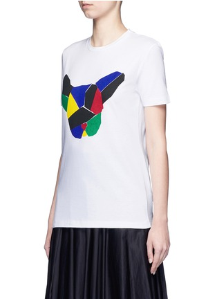 Front View - Click To Enlarge - Etre Cecile  - 'Olympic Dog' collage print T-shirt