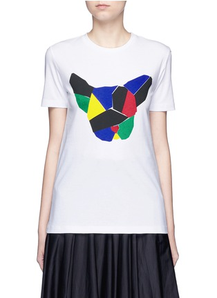 Main View - Click To Enlarge - Etre Cecile  - 'Olympic Dog' collage print T-shirt